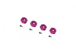 Wheel Adaptor 4mm thick (4pcs) - 3Racing SAKURA FF 2014