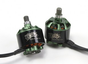 Multistar Elite 2312 980KV Motor Set CW/CCW EZO Bearings, 4mm Main Shaft, N45SH Magnets (2 Motors)