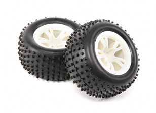 Tyres (1 pair) - H.King Rattler 1/8 4WD Buggy