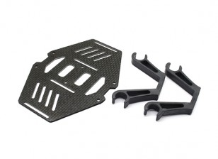 Carbon Multi-Rotor Dual Battery Mount Suits 10mm Booms