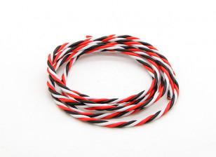 Twisted 22AWG Servo Wire Red/Black/White (100cm)