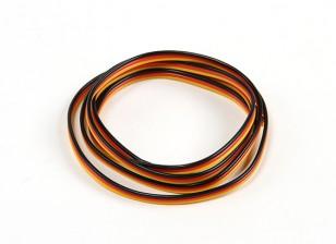 Flat 26AWG servo wire 100cm (R/B/Y)