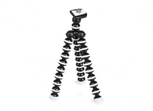"""Flexible Micro Bubble Tripod For Action Cams With 1/4""""-20 Thread and Quick-Release Mount"""