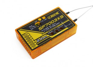 OrangeRx SF7003XS Futaba FHSS Compatible 7ch 2.4Ghz Receiver w/FS, SBus & 3 Axis Stabilizer