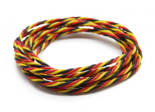 Twisted 22AWG Servo Wire Red/Black/Yellow 200cm