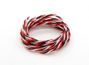 Twisted 22AWG Servo Wire Red/Black/White (2m)