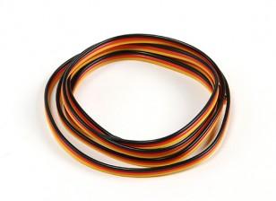 Flat 26AWG servo wire 200cm (R/B/Y)