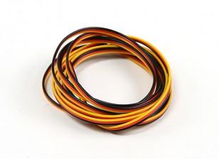 Flat 26AWG servo wire 500cm (R/B/Y)