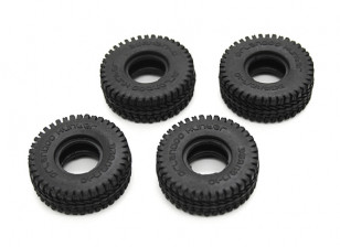 Small Block Tires (4pcs) - OH35P01 1/35 Rock Crawler Kit