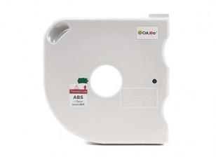 CoLiDo 3D Printer Filament 1.75mm ABS 500g Spool w/Cartridge (Green)