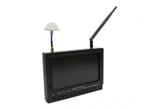 7 inch 800 x 480 40CH Diversity Receiver Sun Readable FPV Monitor w/DVR Fieldview 777SB (EU Plug)