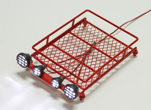 1/10 Roof Rack (Red) with Round Spotlights