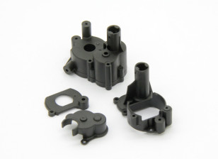 Gearbox Housing, Motor Mount, Motor Cover Plate (1pc) - Basher RockSta 1/24 4WS Mini Rock Crawler