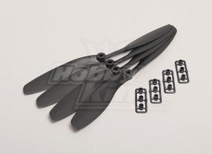 GWS Style Slowfly Propeller 8x4.5 Black (CW) (4pcs)