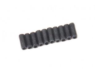 Screw Grub Hex M2 X 5mm Machine Steel Black (10pcs)