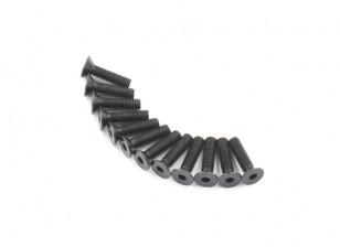 Screw Countersunk Hex M5 x 20mm Machine Steel Black (10pcs)