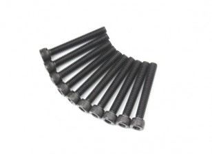 Screw Socket Head Hex M5 x 36mm Machine Steel Black (10pcs)