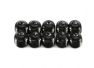 Screw Grub Hex M5 x 5mm Machine Steel Black (10pcs)