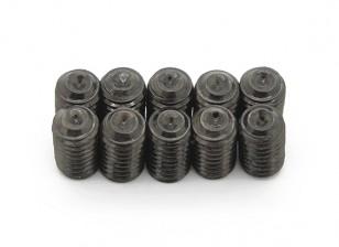 Screw Grub Hex M5 x 8mm Machine Steel Black (10pcs)
