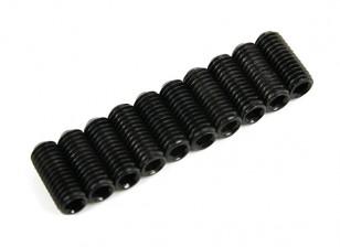 Screw Grub Hex M5 x 12mm Machine Steel Black (10pcs)