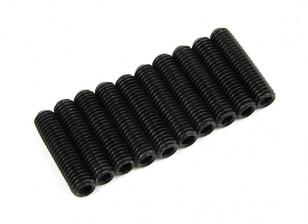 Screw Grub Hex M5 x 20mm Machine Steel Black (10pcs)
