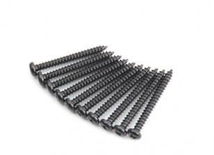 Screw Button Head Phillips M2.5x22mm Self Tapping Steel Black (10pcs)