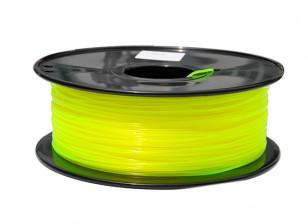 HobbyKing 3D Printer Filament 1.75mm PLA 1KG Spool (Translucent Yellow)