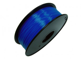 HobbyKing 3D Printer Filament 1.75mm PLA 1KG Spool (Translucent Blue)