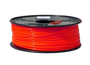 HobbyKing 3D Printer Filament 1.75mm PLA 1KG Spool (Fluorescent Red)