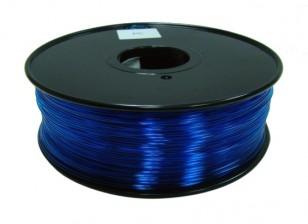 HobbyKing 3D Printer Filament 1.75mm Polycarbonate or PC 1KG Spool (Translucence Blue)