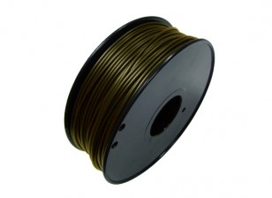 HobbyKing 3D Printer Filament 1.75mm Metal Composite 0.5KG Spool (Bronze)