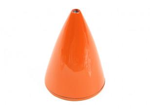 """Carbon Fiber Spinner 76mm - 3"""" High Gloss Orange"""