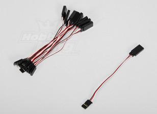 10CM Servo Lead (Futaba) 32AWG Ultra Light (10pcs/set)