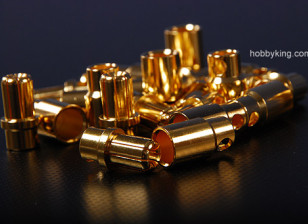 8MM gold connectors (12 pack)