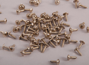 Self Tapping Machine Screw M2x12mm Phillips Head w/shoulder (100pcs)