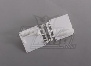 Servo Mount/Protectors White (1set/bag) 64mm x 67mm