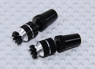 Alloy Anti-Slip TX Control Sticks Short (JR TX Black)