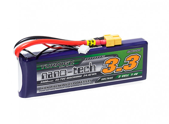 Turnigy nano-tech 3300mAh 2S 35~70C Lipo Pack w/XT-60