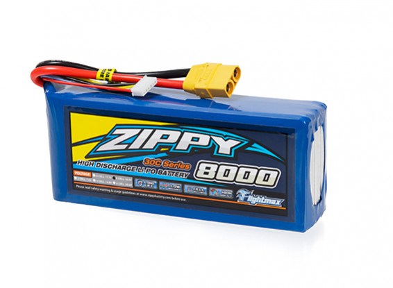 ZIPPY Flightmax 8000mAh 5S1P 30C With XT90