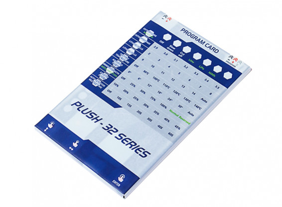 Turnigy Plush-32 Series ESC Programming Card