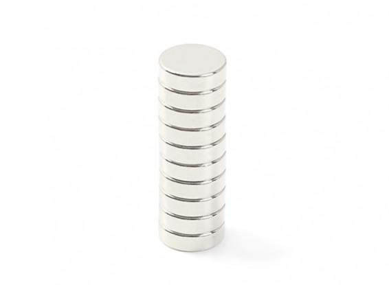 Neodymium Button Magnet 10x3mm (10pcs)