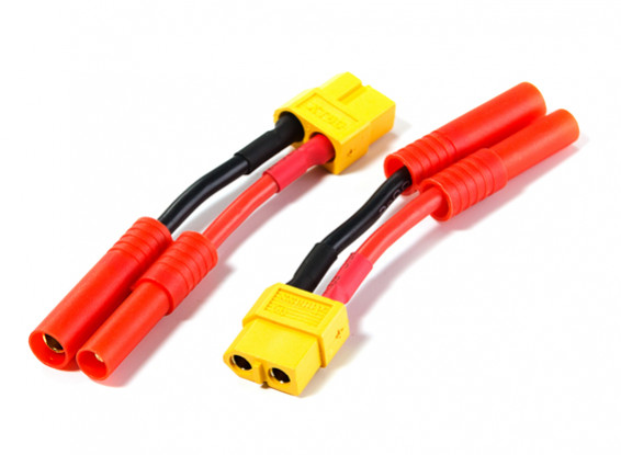 HXT 4mm Male/Female to XT60 Female Battery Adapter (2pcs)
