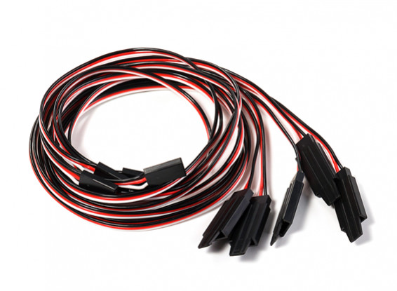 Futaba 60cm 26AWG Extension Lead with Retaining Clip (5pcs)