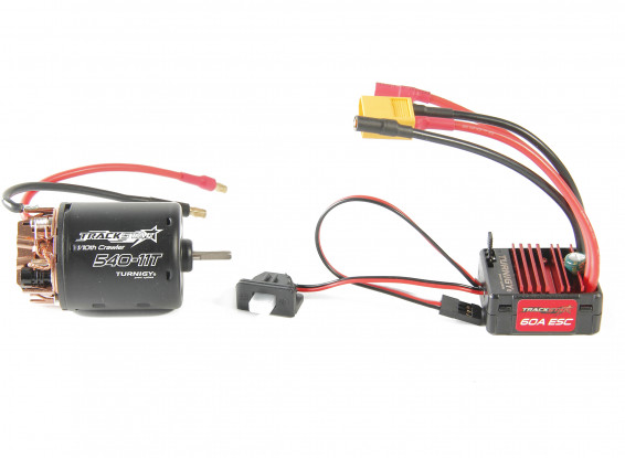 Trackstar 540-11T Brushed Motor & 60A ESC Combo for 1/10th Crawler 1