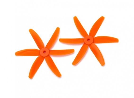 Gemfanブルノーズポリカーボネート5040 6枚羽根のプロペラオレンジ(CW / CCW)(1ペア)