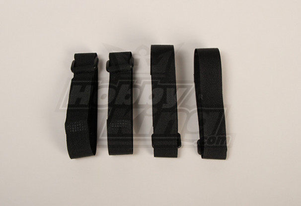 バッテリーストラップ400X20mm(ブラック)(4本/袋)
