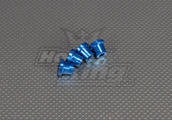 CNCインチスタンドオフ15ミリメートル(M6,1 / 4 20)ブルー