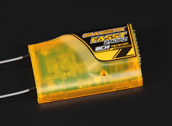 OrangeRxフタバFASST互換性は8Ch 2.4GHzのレシーバー(オレンジケース - 下)