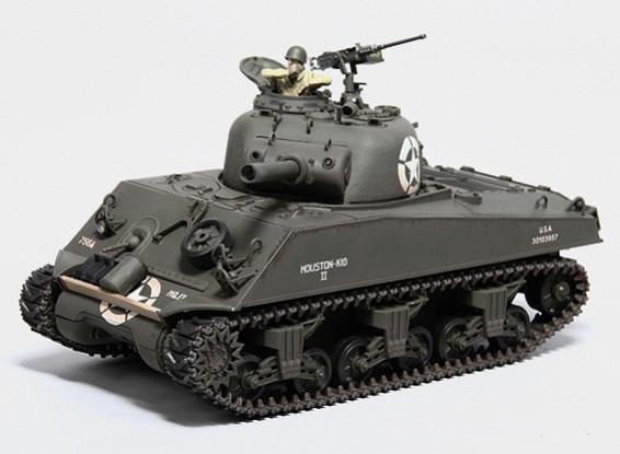 US-M4A3シャーマン中RC戦車RTRワット/ TX /サウンド/赤外線(第七百五十六タンクBTNのHQ)