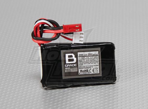 Bグレード350mAh 2S 25C Lipolyバッテリー